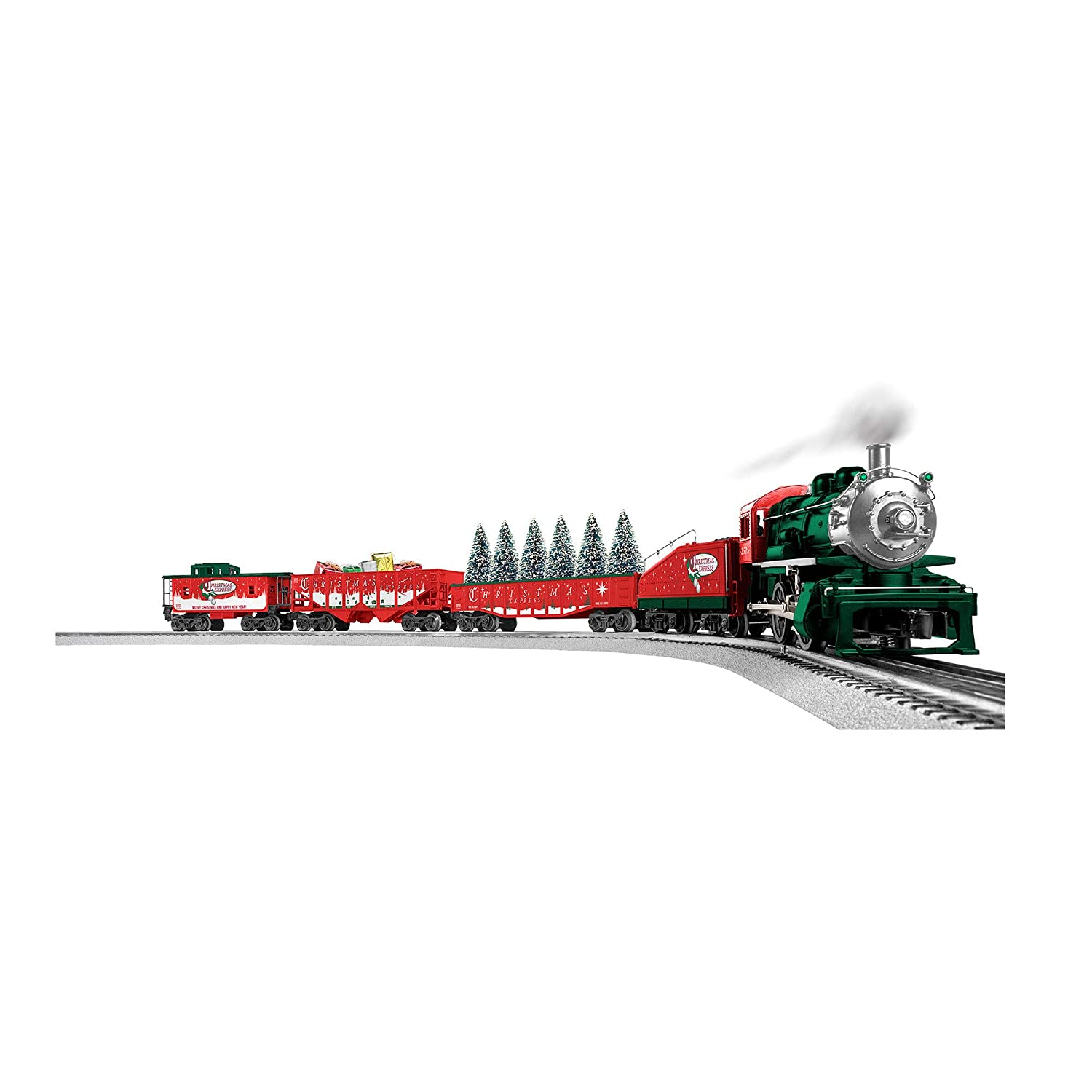 Amazon.com: Lionel The Christmas Express Freight Train Set with ...