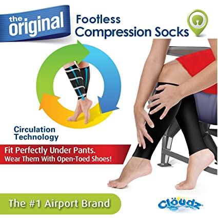 e108c81288 Image Unavailable. Image not available for. Color: Cloudz Footless Calf Compression  Socks - Unisex ...