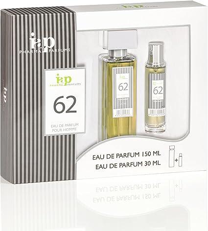 Pack de perfume 150 ml + 30 ml iap perfume nº 62 eau de parfum hombre estuche regalo lo mejor para el: Amazon.es: Belleza