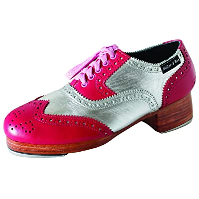 Miller & Ben Tap Shoes; Triple Threat; Pink & Silver (GT) - Royal - Standard Sizes | Ballet & Dance