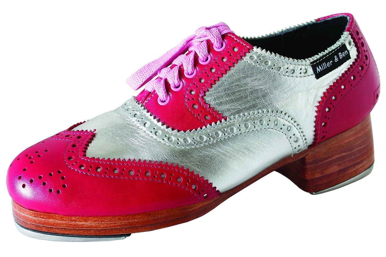 Image of Ballet & Dance Miller & Ben Tap Shoes; Triple Threat; Pink & Silver (GT) - Royal - Standard Sizes