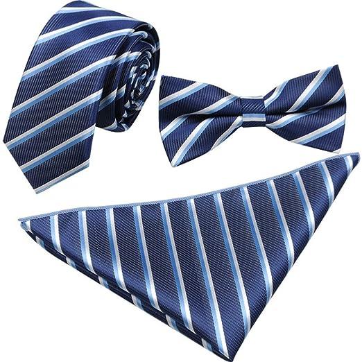 Conjunto de pajarita para hombre Corbata de moño Corbata Pañuelo ...