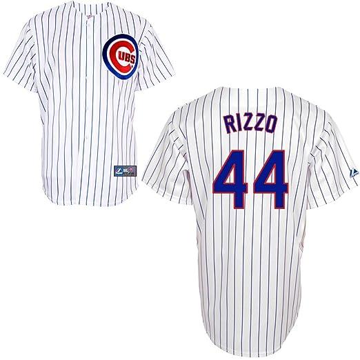 00b1e2da MLB Chicago Cubs Anthony Rizzo 44 Replica Jersey, White/Royal Pin Stripe, XX