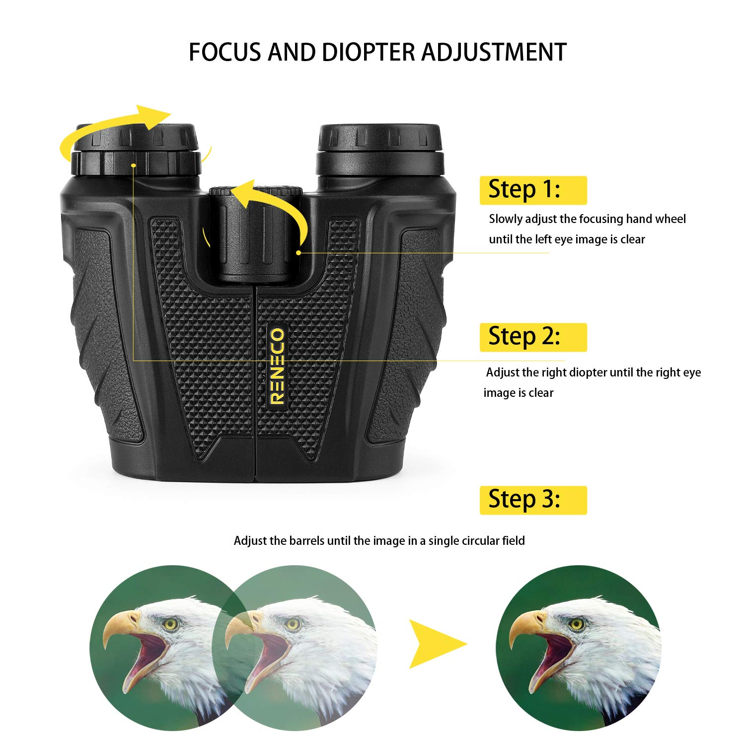 Wide Angle Best for Bird Watching Theater BAK4 Prism Concerts Opera /& More Hiking Waterproof Compact Binoculars for Adults and Kids Low Light Night Vision 10x Magnification Outdoor Sport