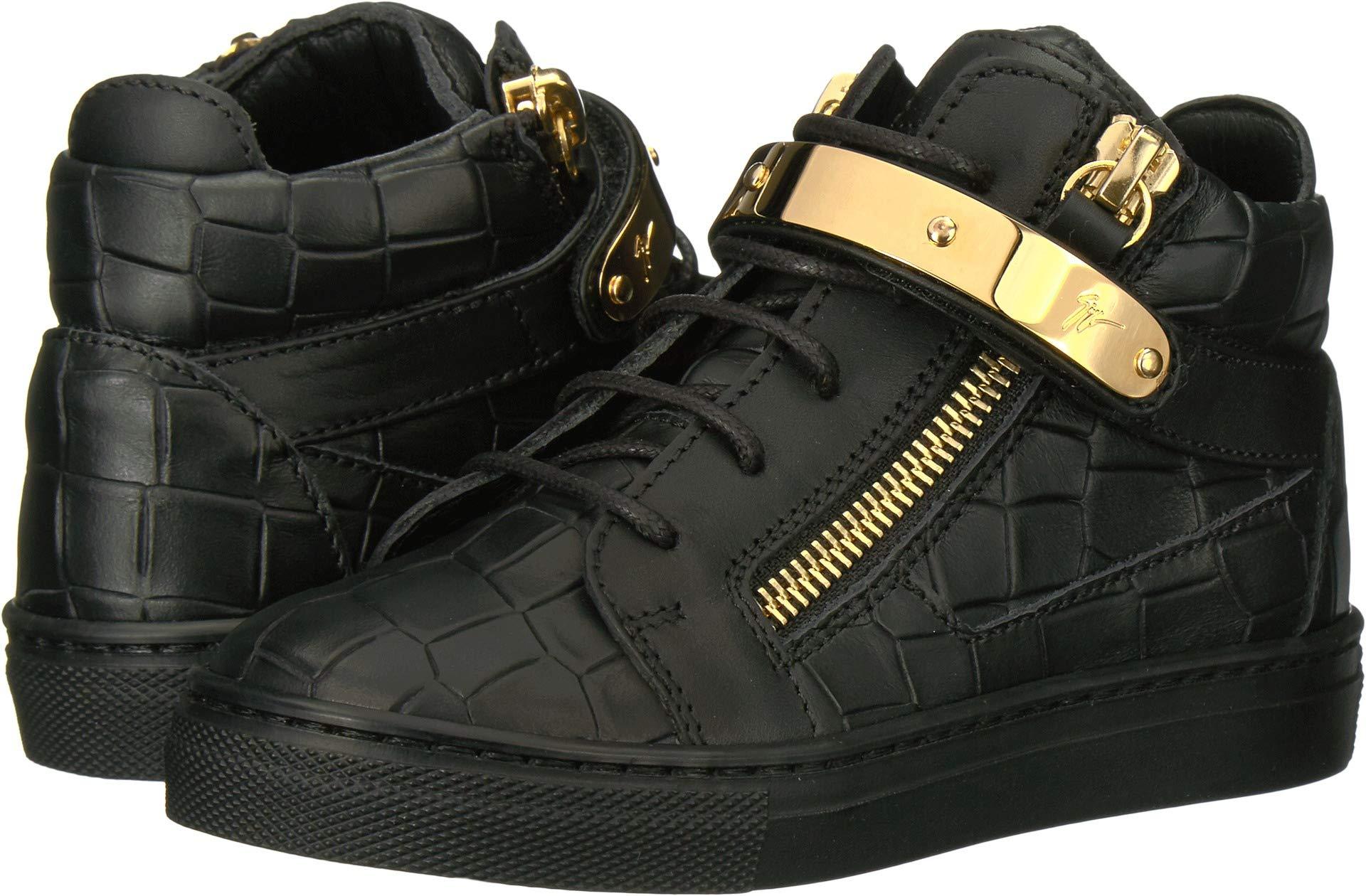 Giuseppe Zanotti Kids Unisex Aftering Sneaker (Toddler/Little Kid) Black 31 M EU M