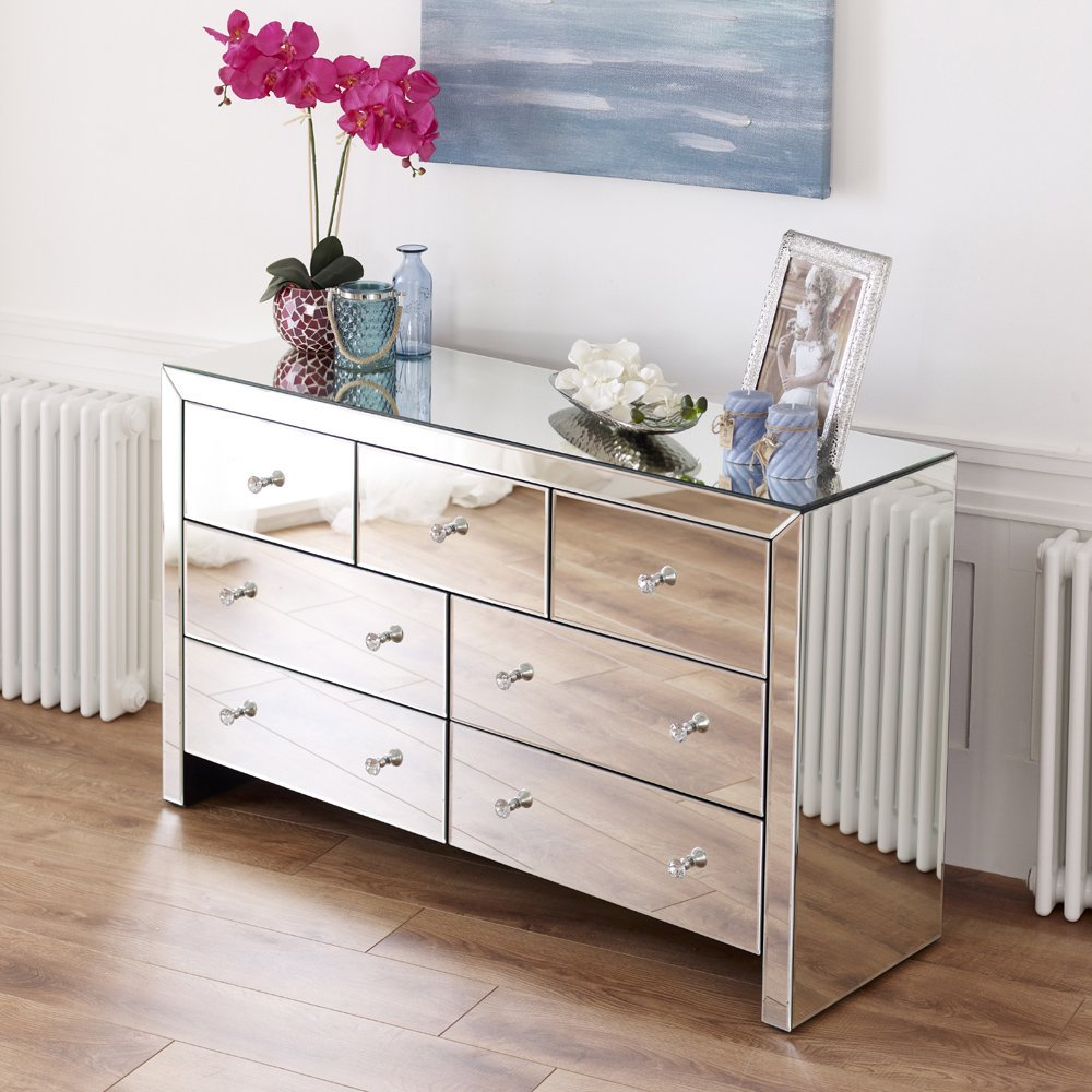 number chests with b mirrored mirror products chest item furniture drawers drawer dresser and hooker three consoles