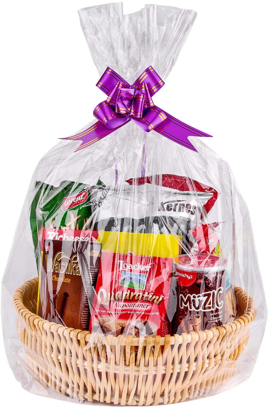 """Cellophane Bags,Clear Cellophane Wrap for Baskets, Gifts 24""""x 30"""" 1.5 Mil Thick (20 Pack)"""