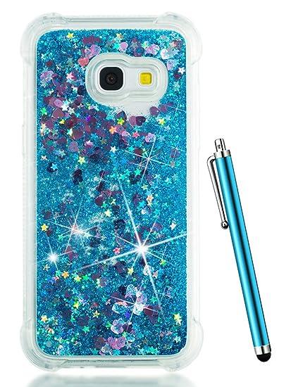 new products 08483 9fbad Galaxy J3 Emerge Case,Samsung J3 Prime Case 2017,J3 Eclipse Case,J3 Luna  Pro Case, CAIYUNL Liquid Glitter Clear Bling Soft TPU Slim Cover Sparkle ...