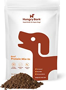 Hungry Bark - Freeze-Dried Raw Meal Mixer • Single-Ingredient Protein Mix in • All Natural Flavor Enhancer • Grain-Free Dog Food Topper and Seasoning • for Wet or Dry Food