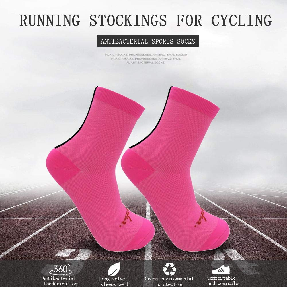 Aoewsie Sports Socks for Men /& Women,100 Percent Waterproof Splicing Color Mesh Riding Socks Unisex Cycling Bicycle Calf Length Socks Breathable