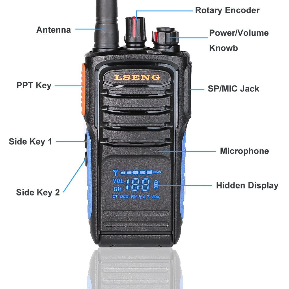 Walkie Talkies Rechargeable Two Way Radio with Display LSENG T-328 2 Way Radio Pack of 2