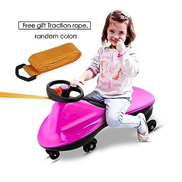 Befied Coche Correpasillos infantiles Giratorio Scooter Bicicleta sin pedales ruedas con luces Juguete para niños carga máxima 80 KG (Rosa): Amazon.es: ...