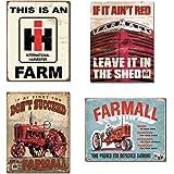 Farm Signs Vintage Bundle - IH Farm, Farmall - If it Ain't Red, Farmall - Succeed, Farmall - Model A