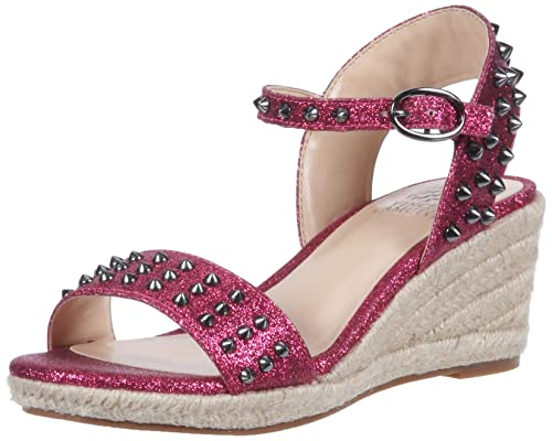 714950eb5e8 Vince Camuto Girls' Adalina Wedge Sandal, Hot Berry Pink, 13 Medium ...