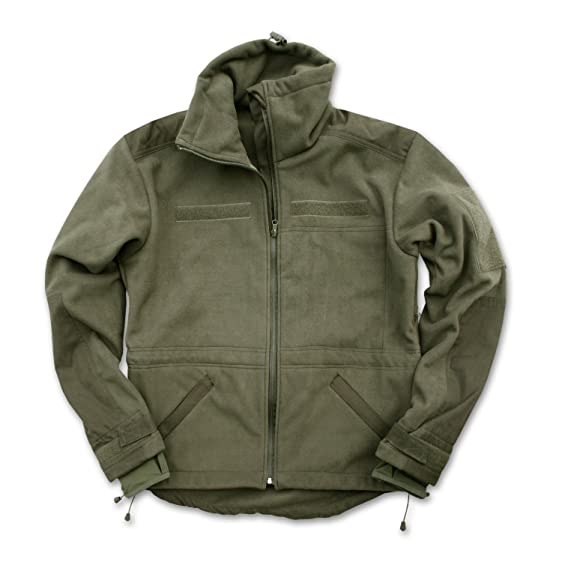 Mil-Tec Windproof Fleece Jacket Olive at Amazon Men's Clothing store: