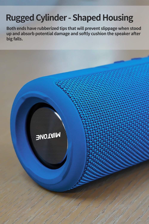 MIATONE Outdoor Portable Bluetooth Speaker Waterproof Wireless Speaker Black