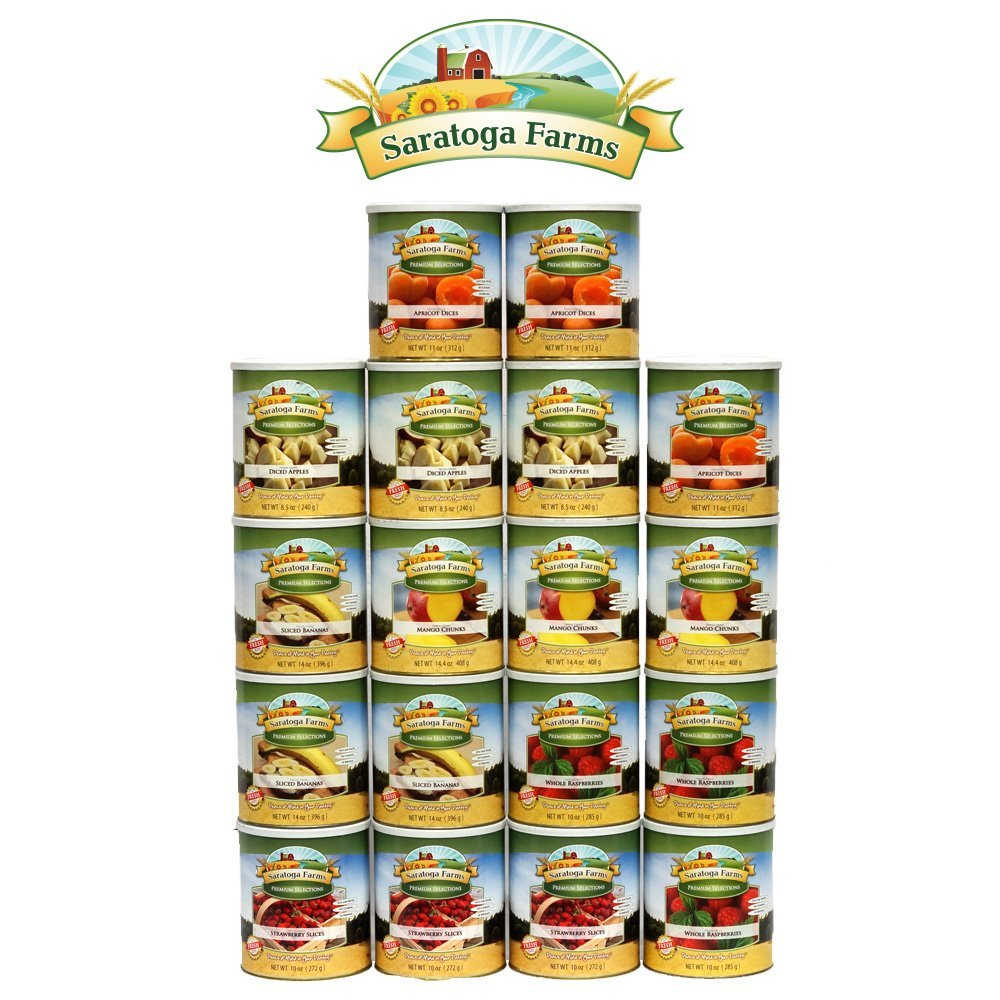BASIC Year Supply of Freeze-Dried Fruit by Saratoga Farms