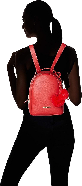 Love Moschino Women's Borsa Pin Grain Pu Backpack Handbag Red (Rosso)