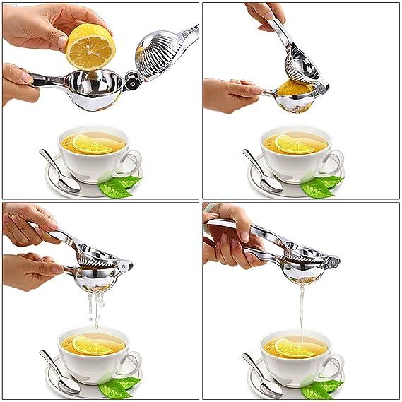 Compra WisFox profesional exprimidor de limones, limón de calidad superior de acero inoxidable con alta resistencia, exprimidor de lima de prensa de ...