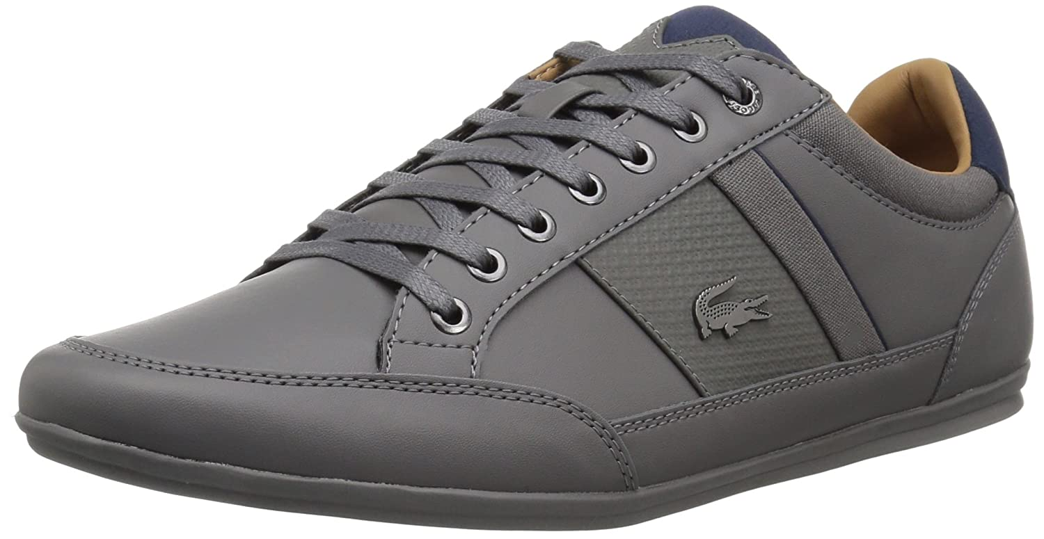 bcafee75f9 Lacoste Men's Chaymon 118 1 Sneaker, Dkgry/NVY Synthetic, 8.5 UK ...