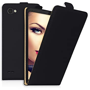 mtb more energy® Funda / Flip-Case para LG Q6 (M700N, 5.5) | negro | cuero sintético | carcasa cubierta estuche