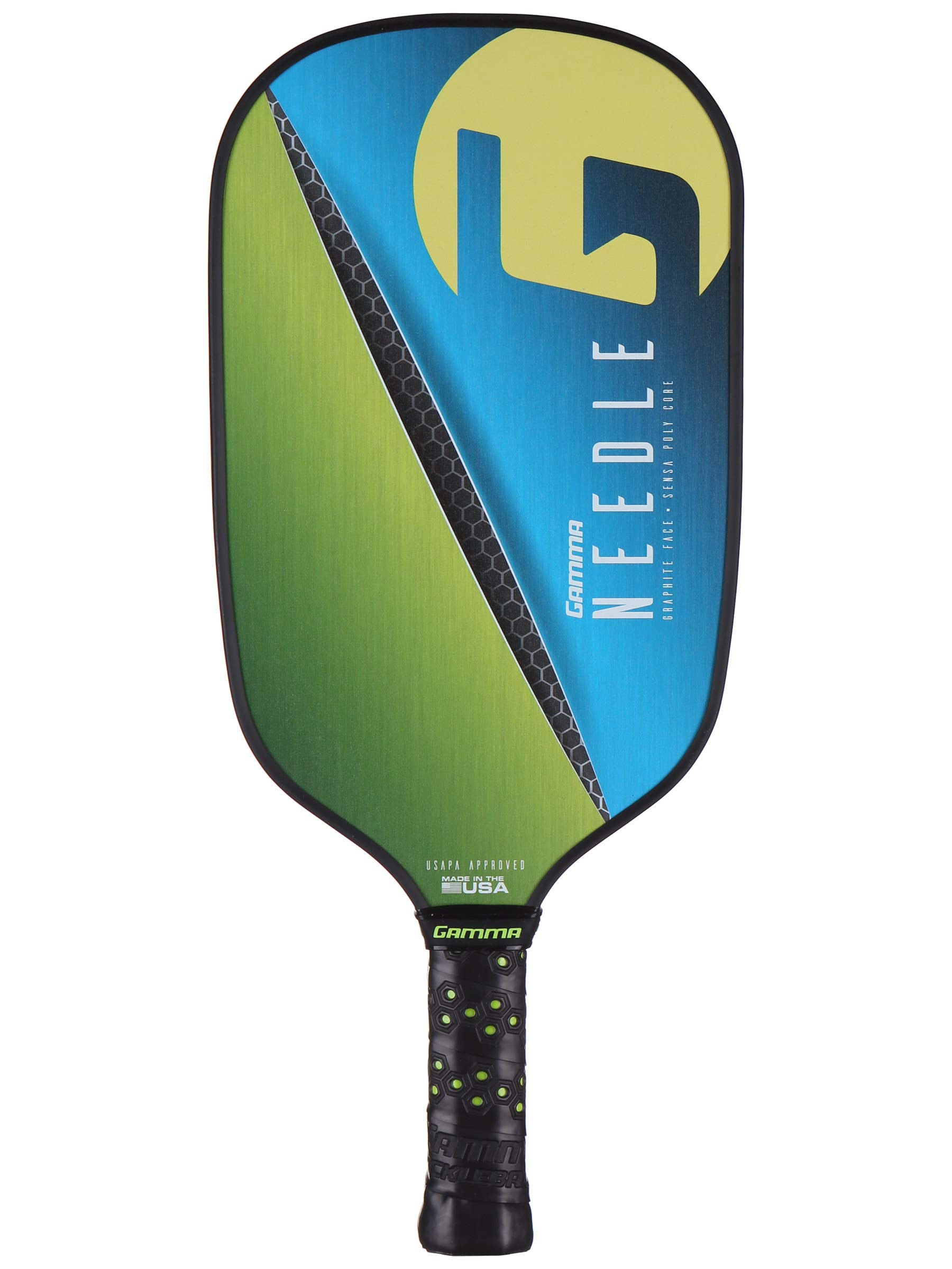 Gamma Needle Elongated Pickleball Paddle: Pickle Ball Paddles for Indoor & Outdoor Play - USAPA Approved Racquet for Adults & Kids - Pink/Blue by Gamma (Image #1)