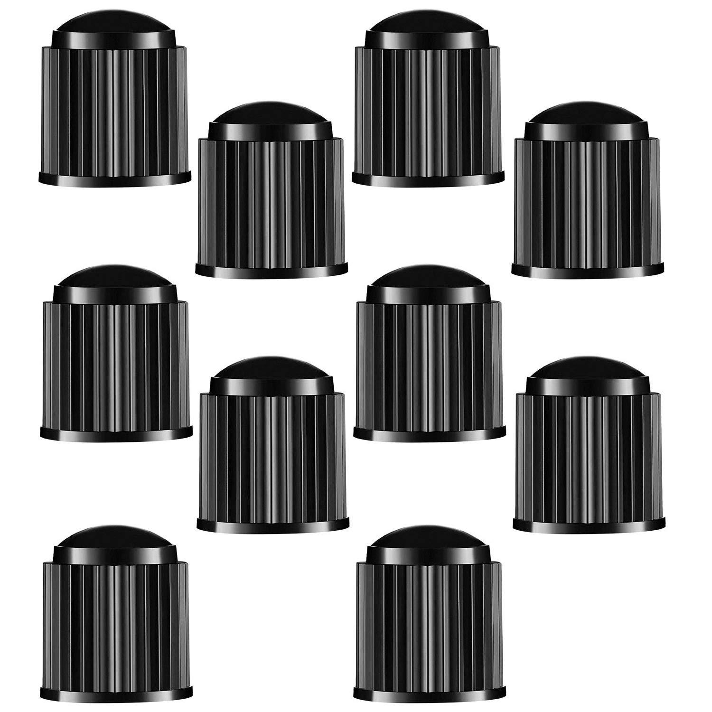 N-A Bicycle Tyre Valve Caps Bike (Black) Beach Motorbike Trucks 10pcs Plastic Car Tire Stem Dust Covers for SUV