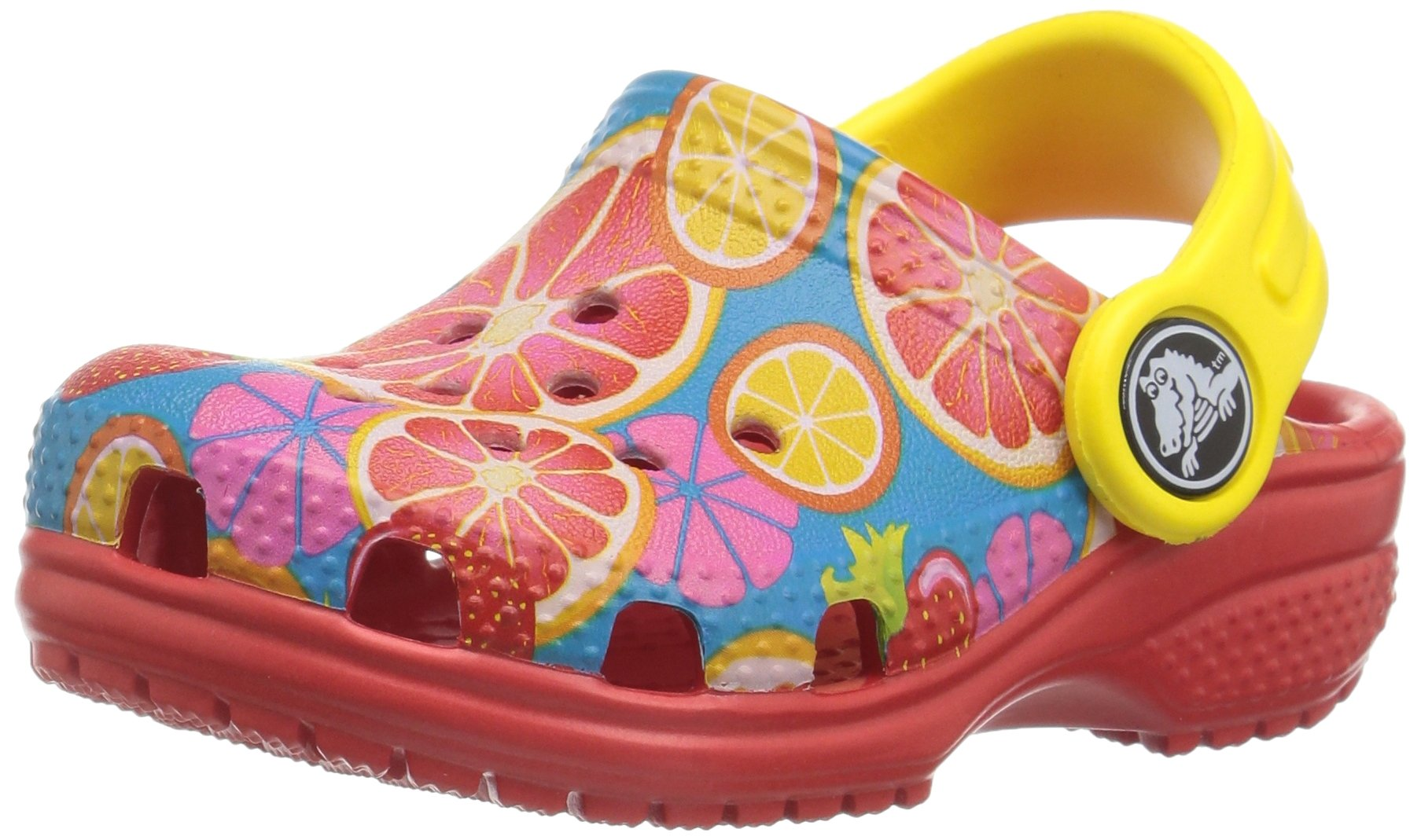 crocs Kids' Classic Graphic K Clog,Flame,11 M US Little Kid