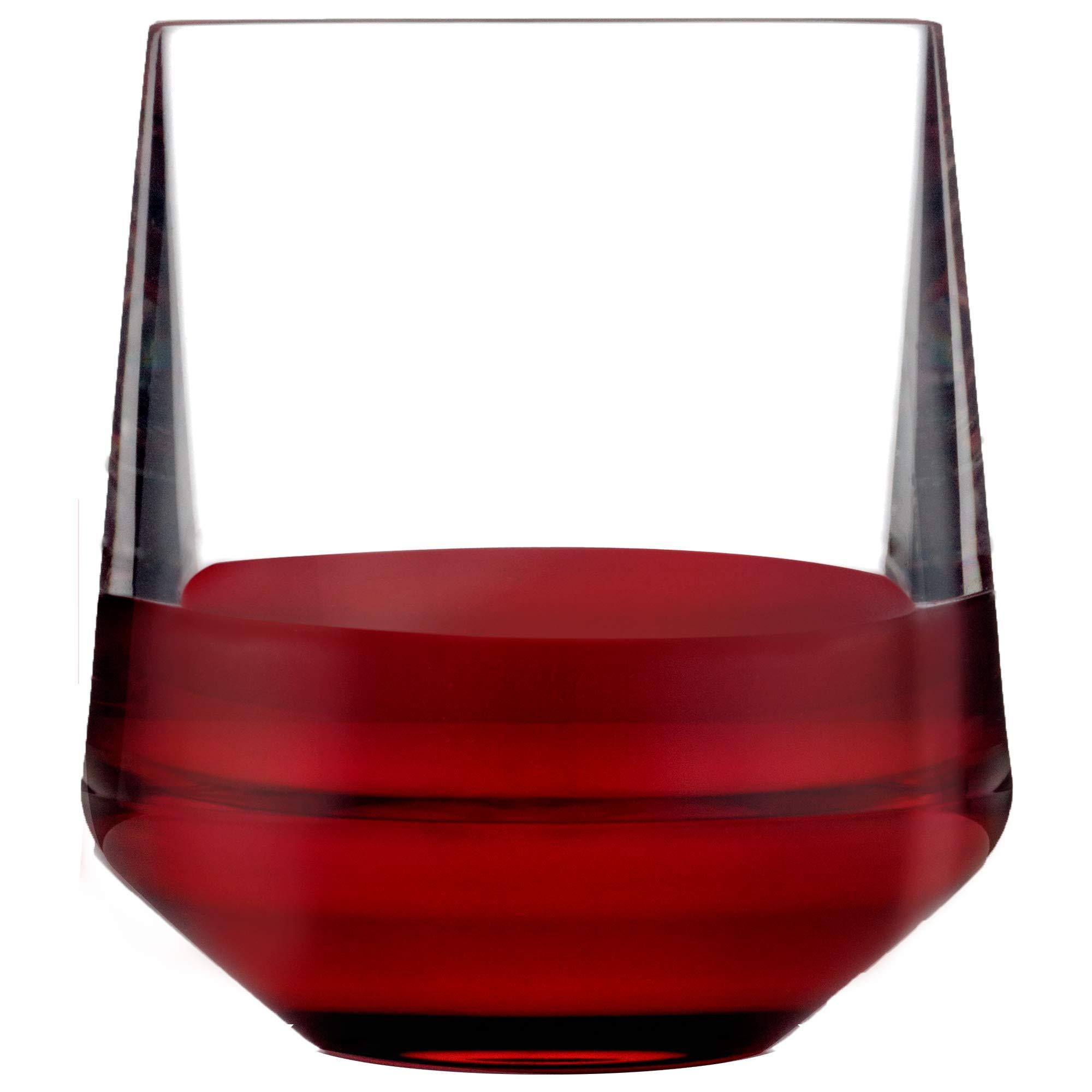 Drinique VIN-SW-CLR-4 Stemless Unbreakable Tritan Wine Glasses, 12 oz (Set of 4), Clear by Drinique (Image #2)