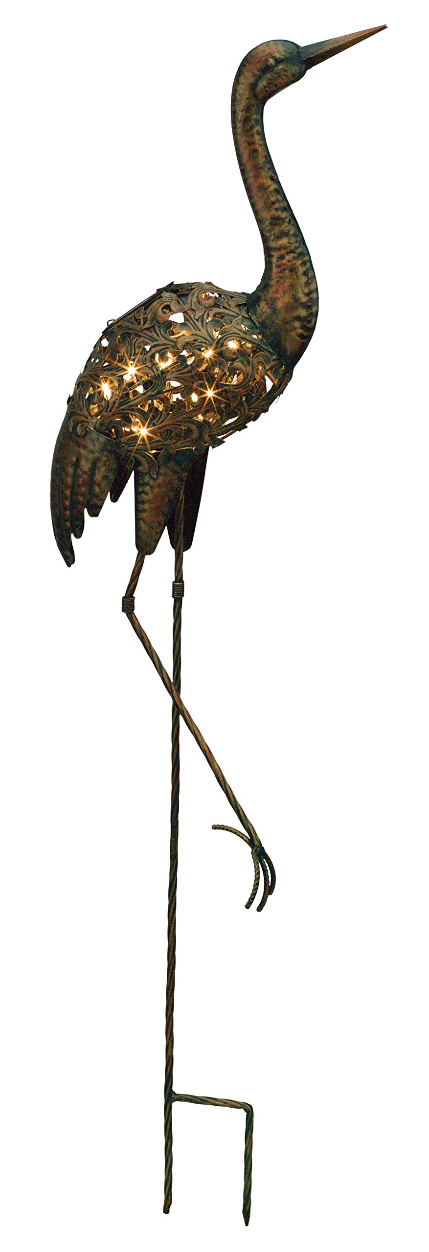 Regal Art & Gift Solar Bird Stake - Crane
