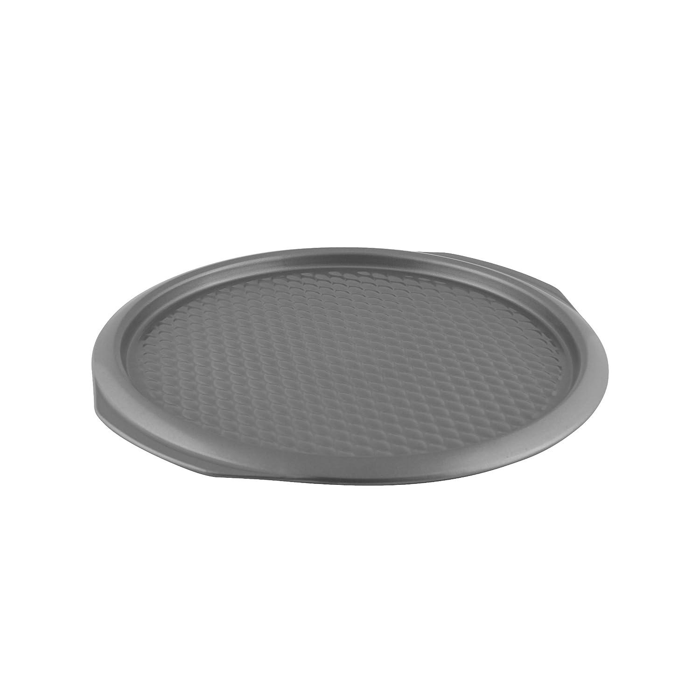 grau Karbonstahl rund Pizza-Platte