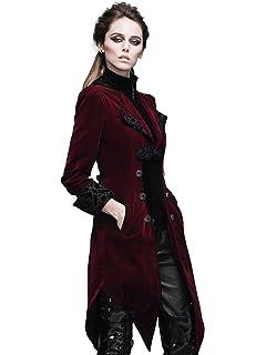 64a991abe6 HaoLin Steampunk Coat Gothic Clothing Victorian Cyberpunk Renaissance  Costume Punk Jacket Red