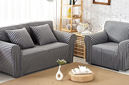 Prime Slipcovers Chezmax Striped Pattern Soft Cotton Fabric Sofa Ncnpc Chair Design For Home Ncnpcorg