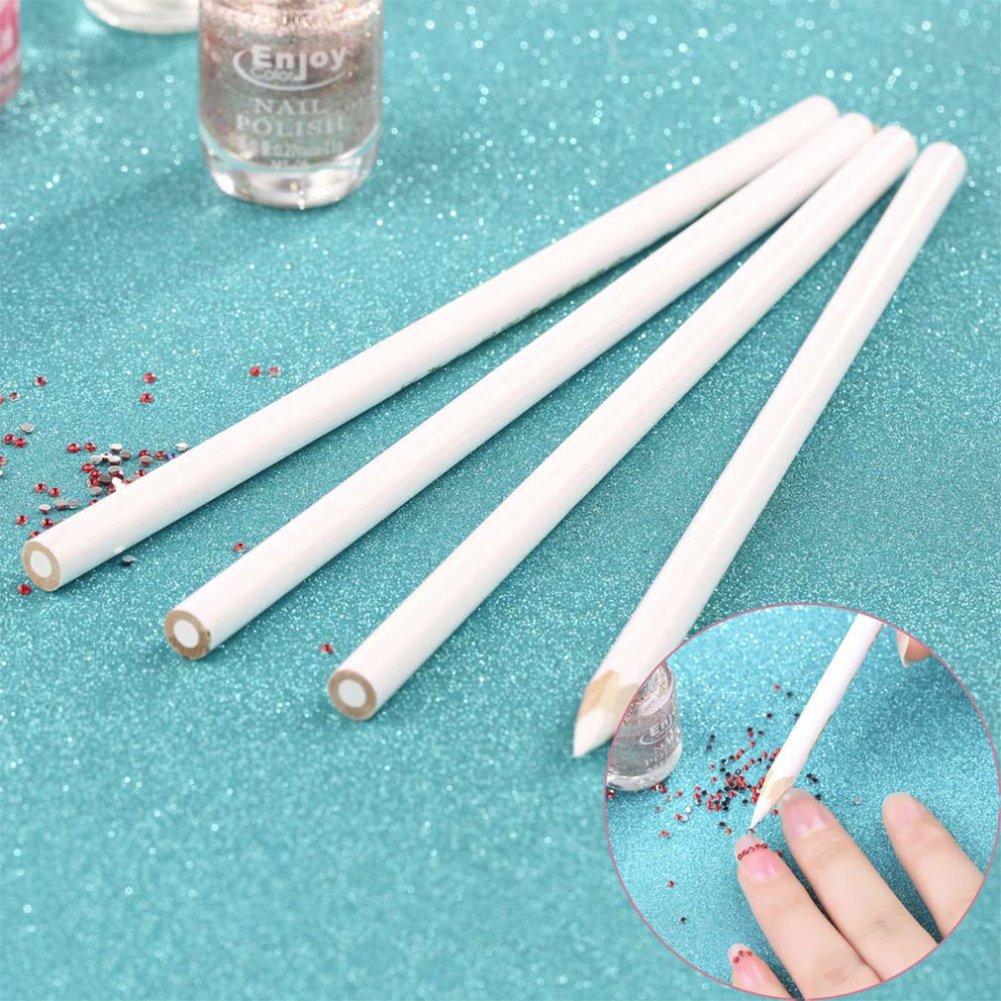 Fashion Gallery 4pcs Nail Art Rhinestones Gems Picking Crystal Tool Wax Pencil Pen Nail Art Decoration Set