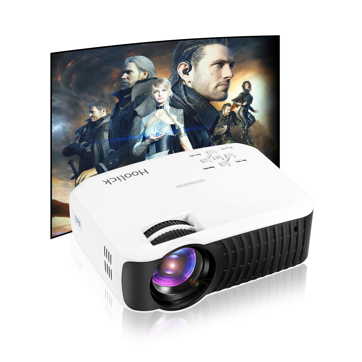 Projector, Mini Projector, Portable Projector 2400 Lumens Projector Video Projector 1080P HDMI/VGA/USB/AV PC/Mac/TV/DVD/iPhone/iPad/Home Theater/Outdoor/Video Games
