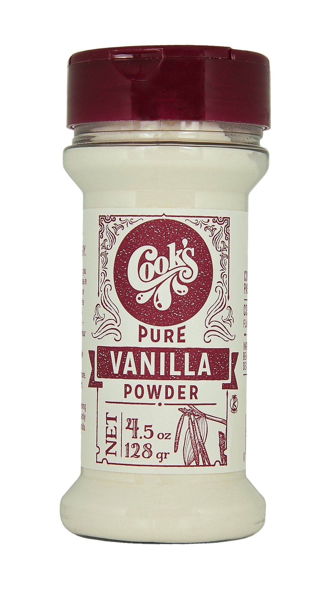 Cook's Premium Quality Pure Vanilla Powder, 4.5 oz.