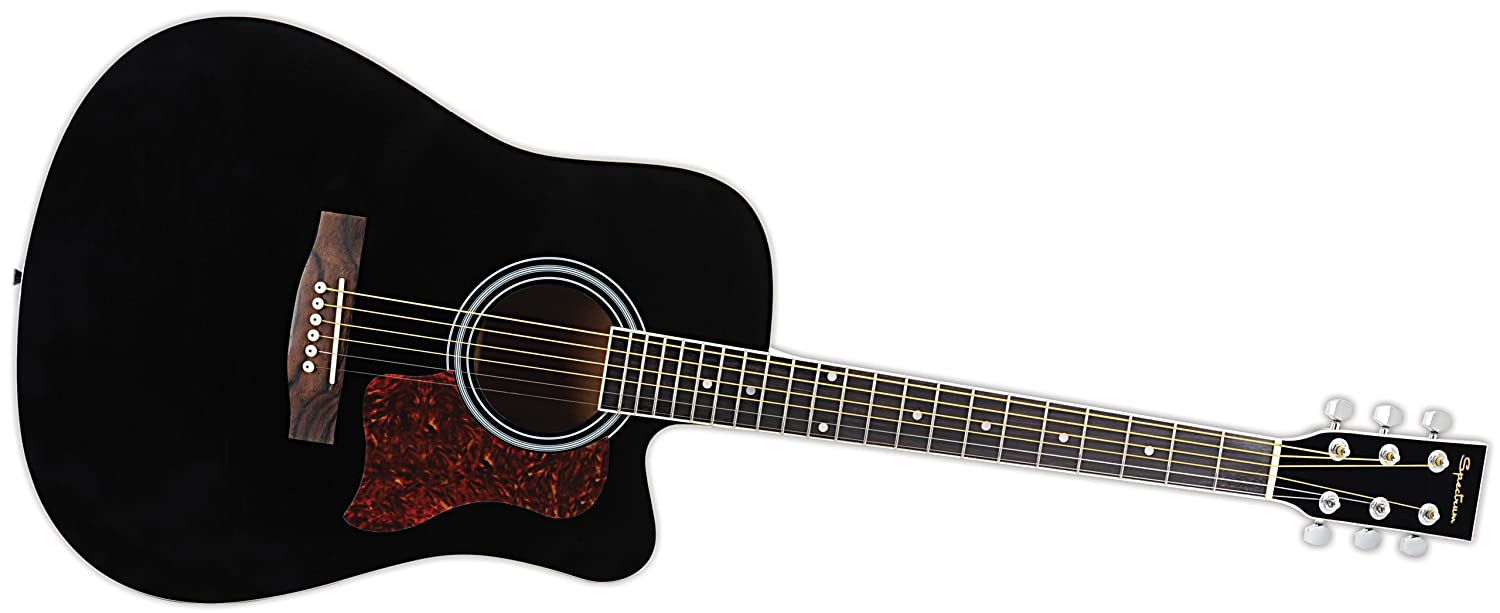 Spectrum AIL 128 Full Size Cutaway Acoustic Guitar Pack, Black Ashley Entertainment CA