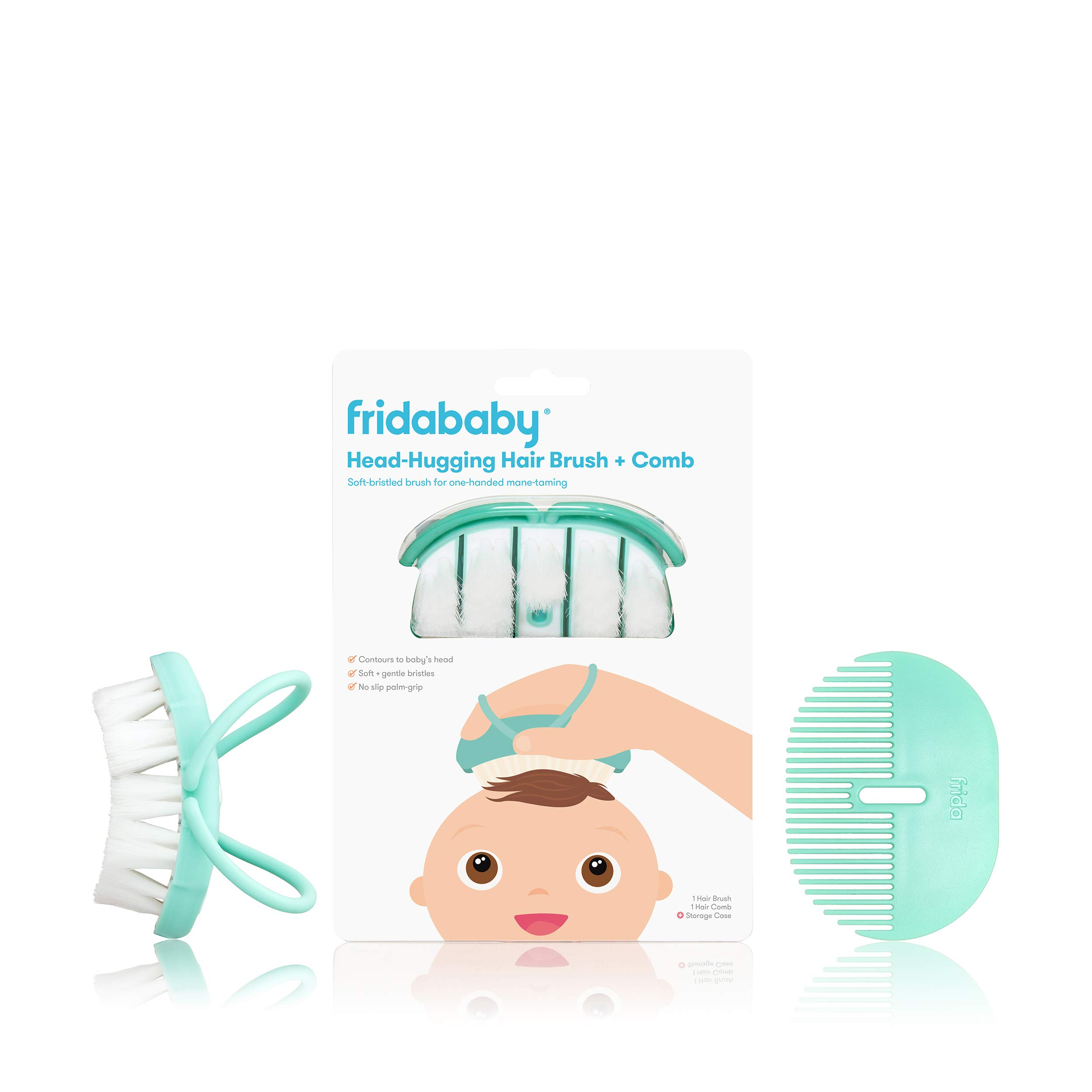 FridaBaby Infant Head-Hugging Hairbrush + Styling Comb Set, from The Makers of NoseFrida