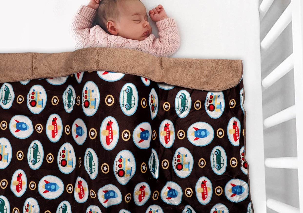Microfiber Fleece Winter Baby Swaddle Blanket