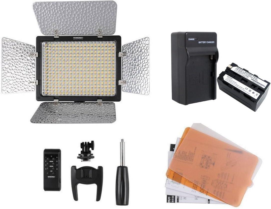 Yongnuo YN-216 YN216 Pro luz de v/ídeo LED 5500K para Canon Nikon DSLR DV de la c/ámara y videoc/ámara con WINGONEER NP-F770 bater/ía y cargador de bater/ía