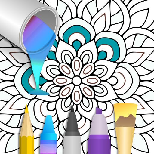 Mandala Number Coloring FREE -