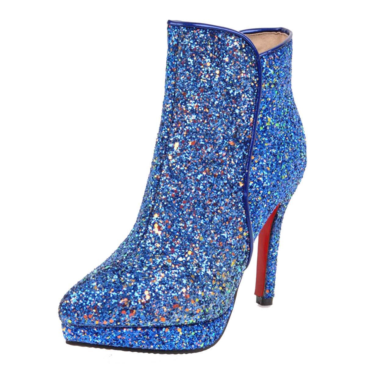 JYshoes , Classiques Bottes B077ZDQ55K Classiques Femme , Bleu d5b2055 - jessicalock.space