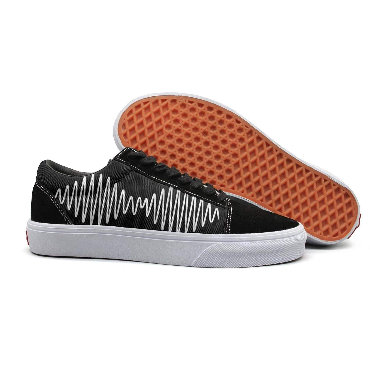 Skate Sneaker for Mens Flat Budge Leather Lazy Shoe Mens Arctic-Discography-Monkeys