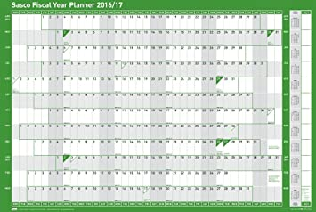 sasco 2016 2017 fiscal year planner kit 916 x 610 mm mounted