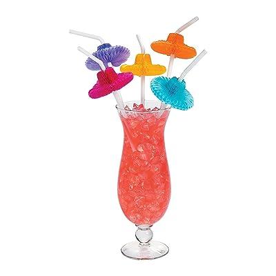 36 Flexible SOMBRERO Straws/FIESTA/Cinco de MAYO Party/MEXICAN HATS/3 Dozen/DECOR: Toys & Games