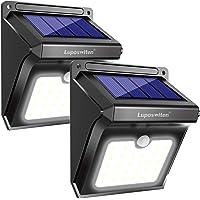 Luci Solari da Esterno 28 LED [2 Pezzo], Luposwiten Lampade Solari a Led de Esterno, IP65 Luce Solare con Sensore Movimento, Luci Solari per Giardino, Pareti, Cortile,Lampada Solare da Esterno