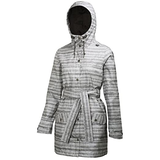77775e219cb6 Helly Hansen Lyness Striped Belted Hooded Rain Jacket at Amazon ...