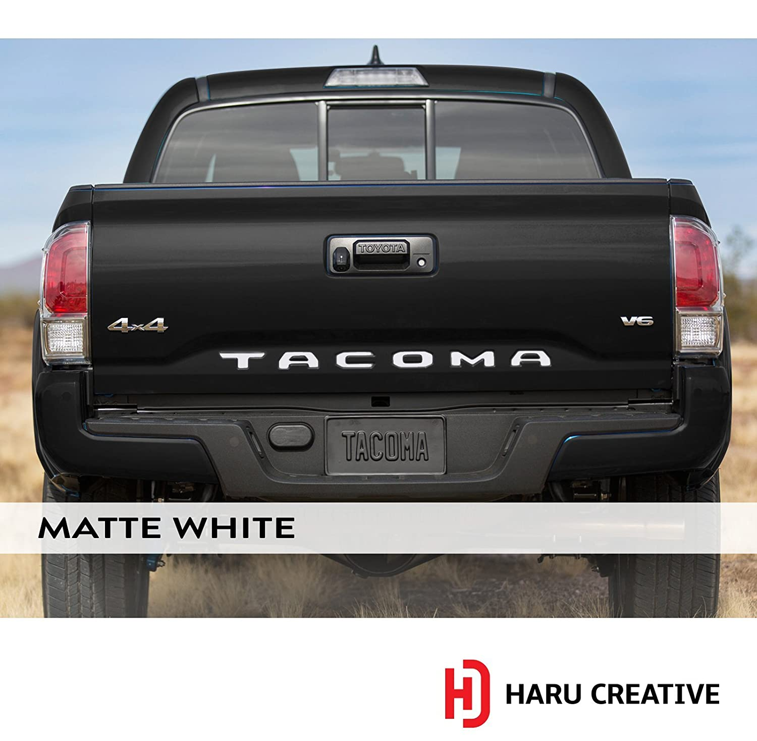 Haru Creative Glove Box Dashboard Letter Insert Decal Sticker Compatible with and Fits Toyota Tacoma 2016 2017 2018 Matte Blue