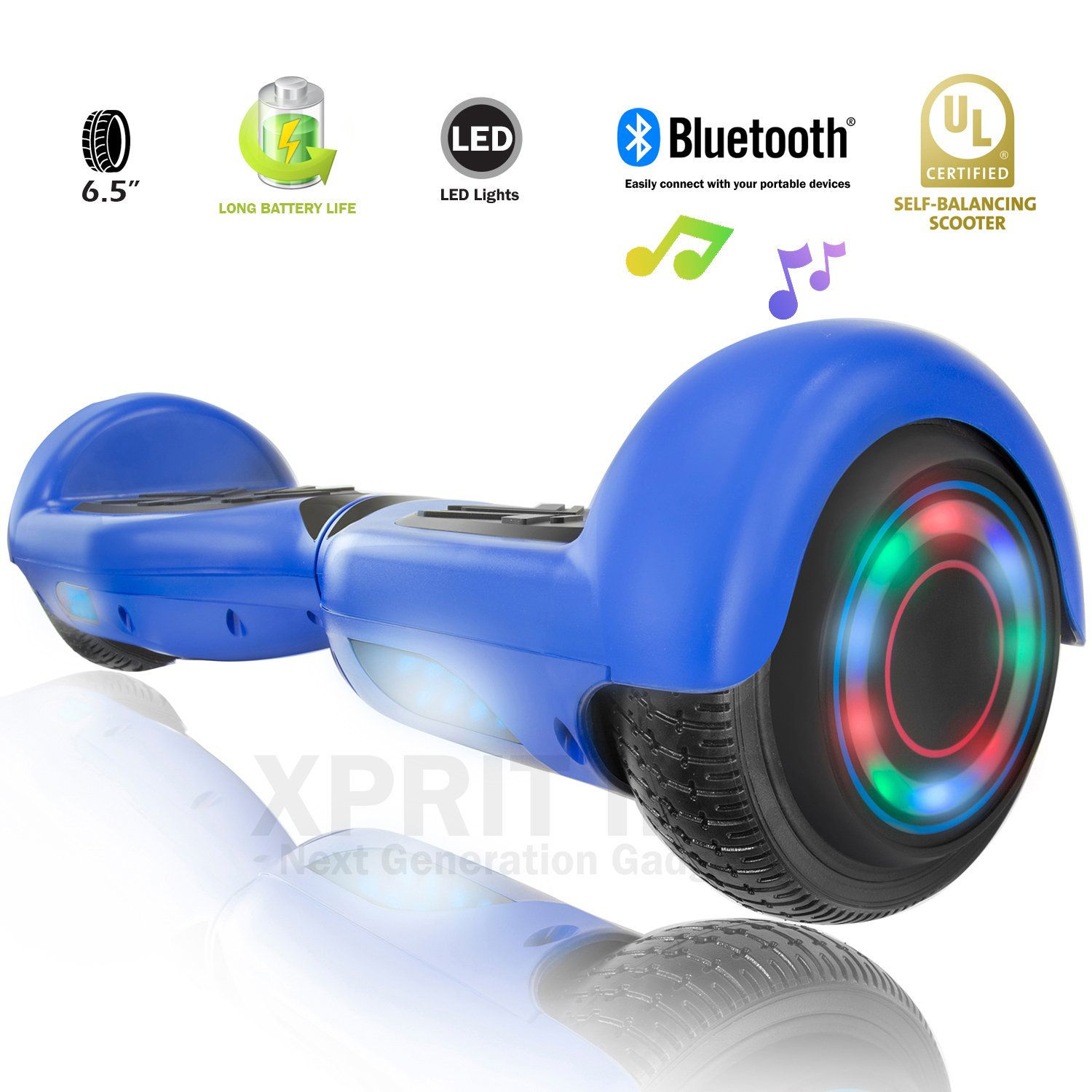 XPRIT Easter Sale Hoverboard w/Bluetooth Speaker (Blue) by XPRIT (Image #1)