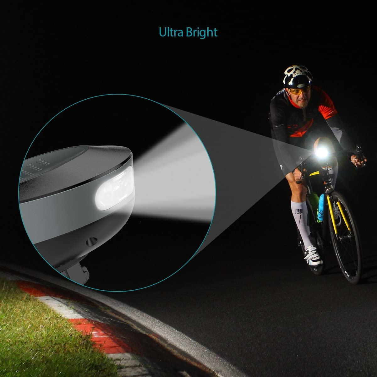 Road Bikes LED Headlight Bicycle Speaker with Mount IPX4 Waterproof and Rechargeable for Cycling Mountain Bikes TOENNESEN Bluetooth 4.1 Bike Wireless Speaker